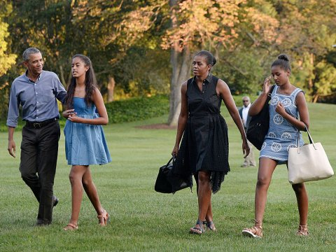 Obama family on vacation Getty Images/Pool