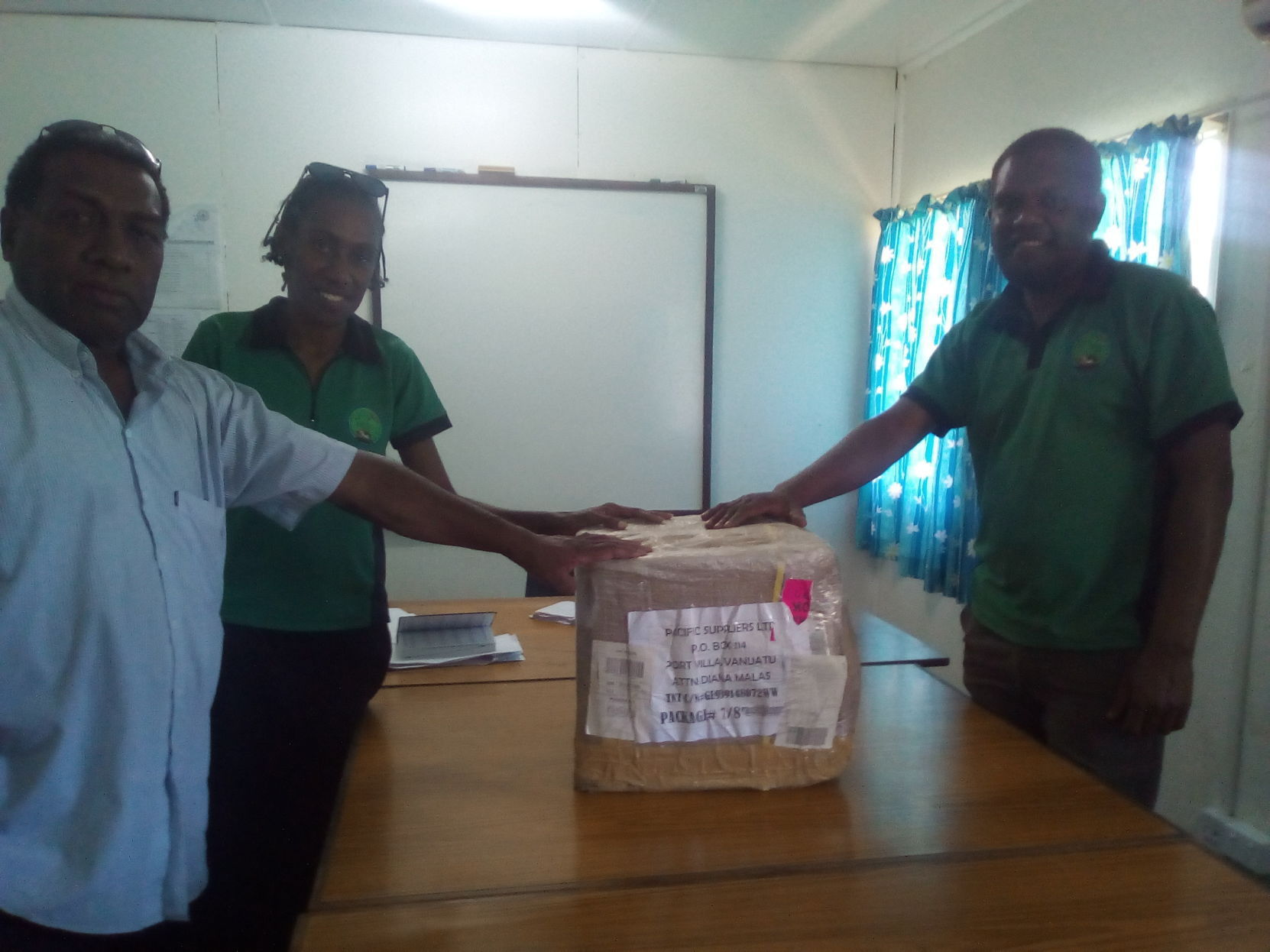 Handing over of coffee pulper from DARD to farmers in north Pentecost