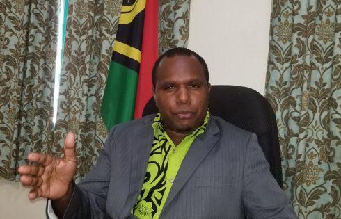 Vanuatu Minister of Internal Affairs Andrew Napuat