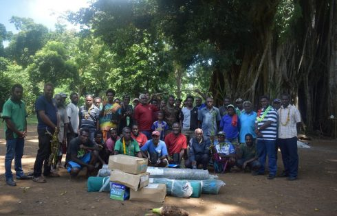 DARD assists kava farmers with poly bags and materials to build nurseries