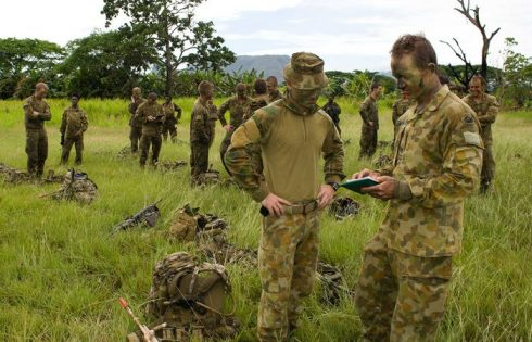 Australian soldiers during a previous training exercise in PNG Photo: Commonwealth of Australia - ABC / PACNEWS