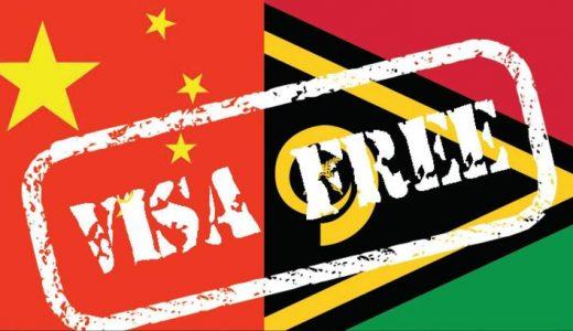 Vanuatu - China Visa Free Soon