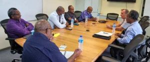 Morobe Provincial Government and Trukai Industries Ltd in a round table discussion. Photo: supplied